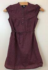 Gap Kids Girls Brown Print Short Sleeve Lined Tie Shirt Dress   Size S(6-7).