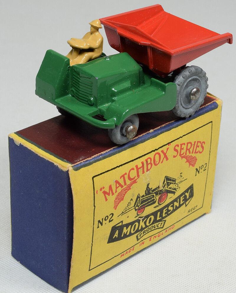 grandes precios de descuento 1957 Matchbox    2 Volquete, MW Menta Con Caja Exc  artículos de promoción