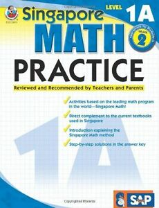 NEW-Singapore-Math-Practice-Level-1A-Grade-2-by-Frank-Schaffer-Paperback