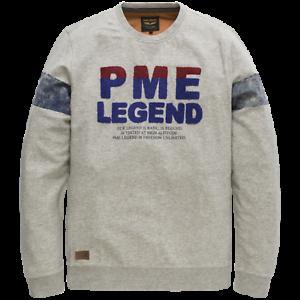 PME Legend Homme Pull Long Manche Encolure en R PTS191501 Léger Gris M L Ou XL