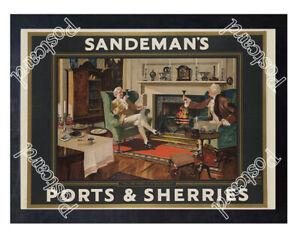 Historic-Sandman-039-s-Ports-amp-Sherries-Advertising-Postcard
