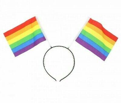 Fiducioso Rainbow Orgoglio Gay Lgbt Testa Boppers Fascia Unisex Costume Festa-mostra Il Titolo Originale Essere Accorti In Materia Di Denaro