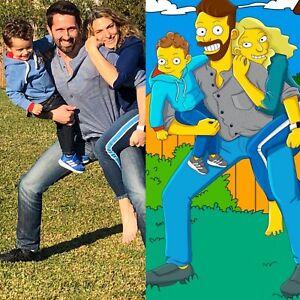 Commission Portrait Simpsons Drawing Simpsons Gift Simpsons Art Simpsons Family Simpsons Portrait Custom Portrait Simpsonize Me