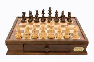 Dal Rossi 16 inch Chess Set Board Game - L2204DR