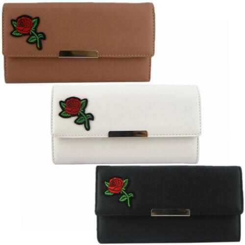 Fashion Femmes Designer Rose Long Porte-monnaie Femme Portefeuille Porte-carte NOUVEAU UK