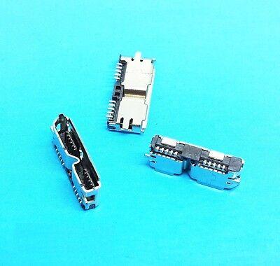 5Pcs HI-Speed Micro USB 3.0 Female 10Pin SMD Socket PCB Soldering Connectors NEW