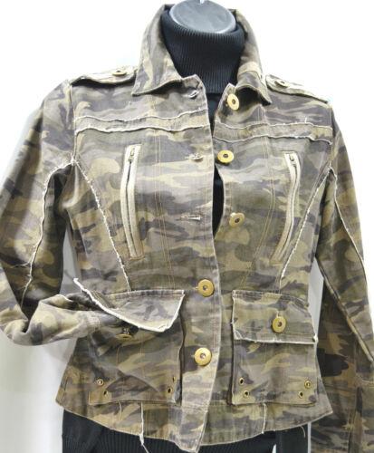 Militaire Effilochée Légère Armée Neuf Camouflage Aziz S Veste Brodé Manteau a17vpv