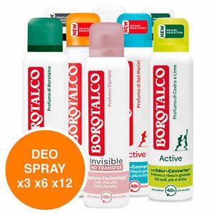 Borotalco Deodorante Spray Deo Original Invisible Anti Sudore Profumo a Scelta