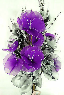 Large beautiful artificial flower arrangements in 12 lovely colours