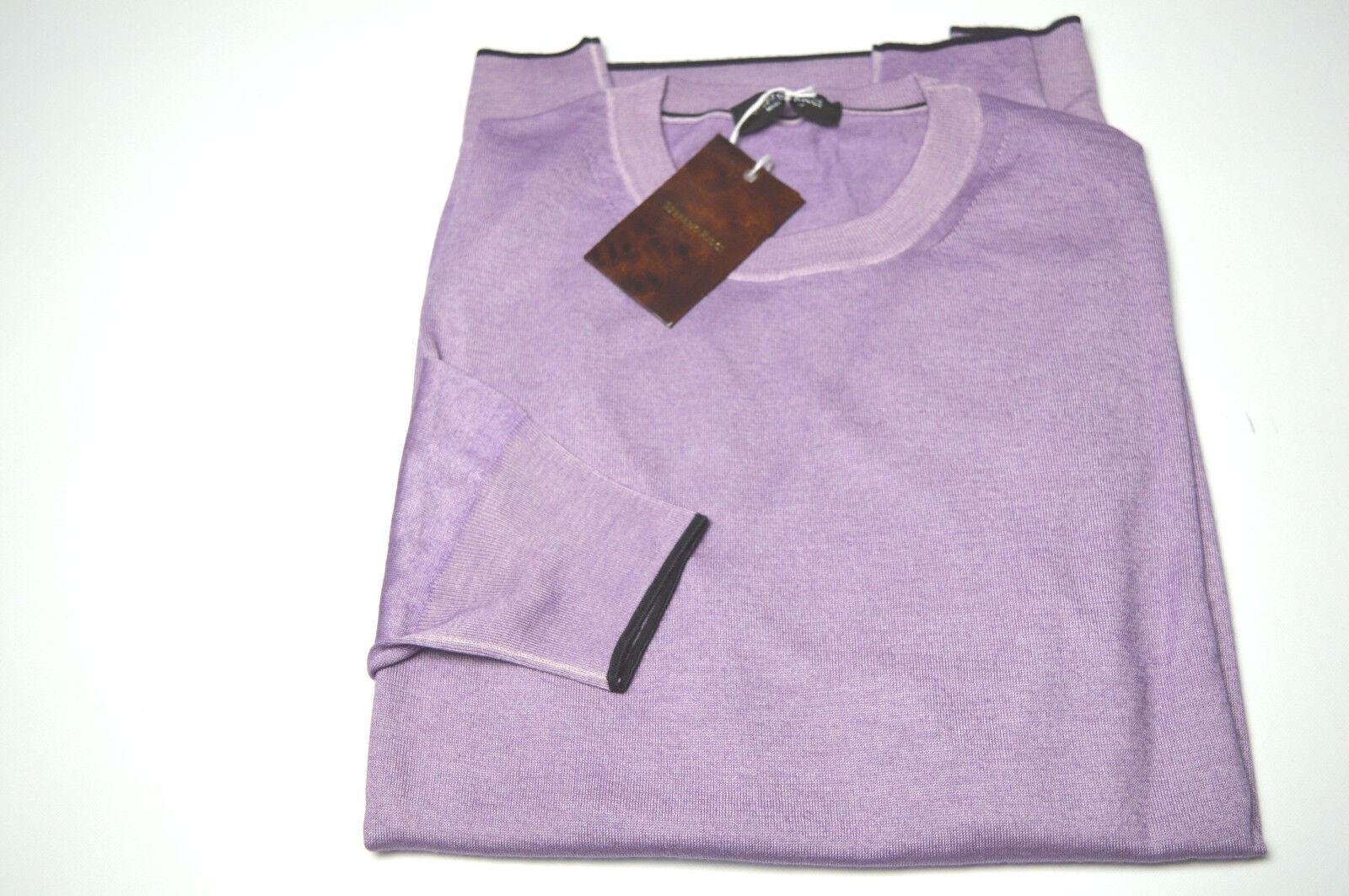 NEW  1740,00 STEFANO RICCI Sweater  Cashmere  Größe L Us 52 Eu (COD AF18)