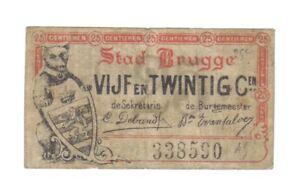 25-CENTIEMEN-1915-BRUGGE