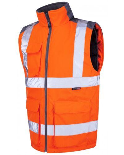 LEO Workwear TORRINGTON BW01 HI VIS ferrovia ARANCIONE GO-RT Corpo più caldo snickersdirect