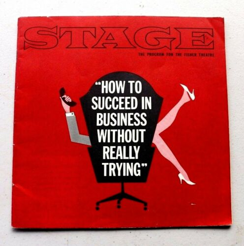 Vintage 1963 HOW TO SUCCEED IN BUSINESS STAGE PROGRAM for FISHER THEATRE