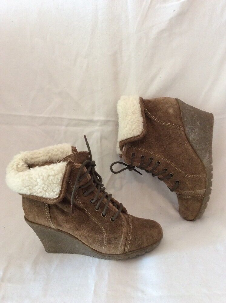 Red Tape Brown Ankle Suede Boots Size 5
