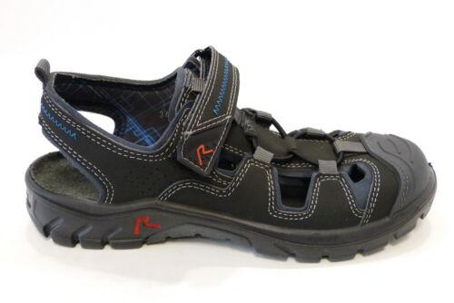 Ricosta geschlossene Sandale 20100 481 schwarz Torne Gummizug Klettverschluß