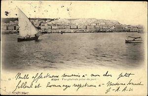 Alger-Algier-Algerien-al-Dschaz-ir-1907-Vue-generale-prise-du-Port-Hafen-Ships
