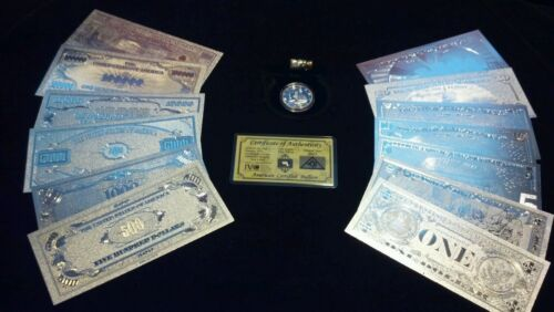 ~NEW 16Pc.LOT~.999 FINE SILVER $1-$1 MILLION+COIN+SILVER FLAKE~