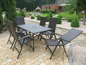 Polyrattan Gartenmöbel Set Sitzgruppe Garten Garnitur Alu Lounge