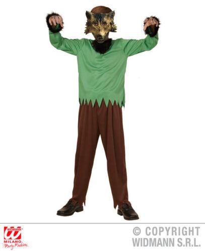 Boys Kids Childs Werewolf Halloween Fancy Dress Costume Wolf Outfit 4-13 Yrs