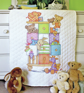 Stamped Cross Stitch Quilt Kit Dimensions Baby Drawers D73537