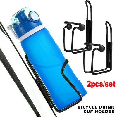 2× Bracket Bicycle Cycling Mountain bike Water Bottle Cup Drinks Holder Cage WQH