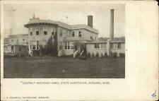 Rutland MA Centre Matrons State Sanatorium Insane Asylum 1906 Used Postcard