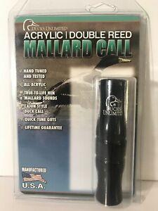 Ducks Unlimited Acrylic Double Reed Mallard Duck Call Black Ebay