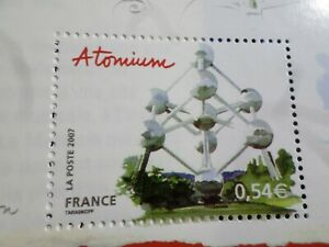 FRANCE, 2007 timbre 4076 CAPITALES EUROPEENNES BRUXELLES ATOMIUM ART neuf** MNH