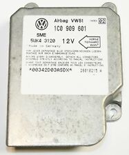 VW POLO 6N2 2000 2001 Air Bag Crash Control Module ECU 1C0 909 601 Index 02