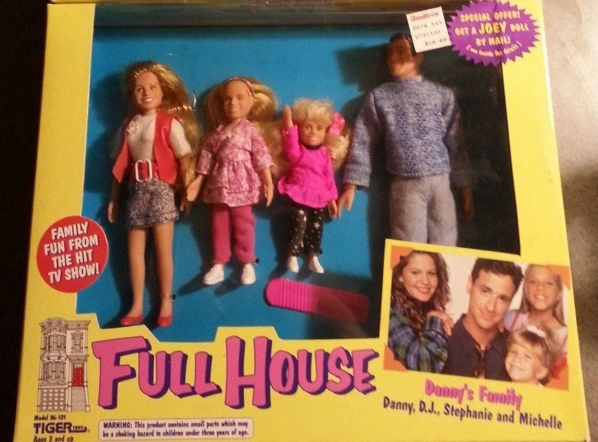 1993 Tiger Toys FULL HOUSE DANNY'S FAMILY SEALED 4 FIGURES MIP VINTAGE RARE ABC