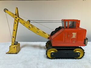 Vintage-Nylint-Pressed-Steel-Steam-Shovel-Construction-Toy-Crane-Tractor-big-dig