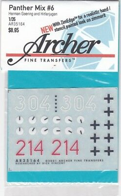 Archer Fine Transfers Ar35164 - Panther Mix #6 1/35