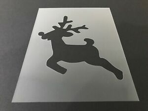 Reindeer-3-Stencil-10mm-or-7mm-Thick-Hunting-Christmas-Crafts-Santa-Snow
