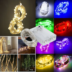 1M 2M LED String Copper Wire Fairy Lights Battery Operated For Love Home Decor E