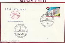 ITALIA FDC CAVALLINO CAMPIONATI MONDIALI CICLISMO 1985 ANNULLO TORINO Y861