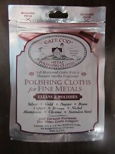 Cape-Cod-metal-Polishing-Cloths-Package-of-2-88821-NEW