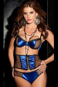 fac75ac70 Image is loading Escante-Sexy-Midnight-Oasis-3-Piece-Waist-Cincher-