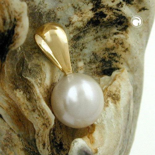 375 Gelbgold Anhänger ca. 6mm Perle rund 9Kt GOLD Goldanhänger Perlenanhänger.