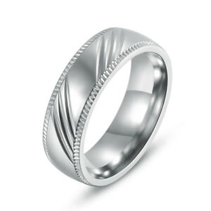 316L-Stainless-Steel-Engagement-Wedding-Bands-Round-Women-Men-Fashion-Rings-6MM