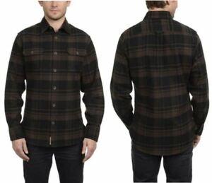Jachs-Men-039-s-Brawny-Flannel-Work-Shirt-Cotton-Button-Down-Long-VARIETY-Size-amp-Color