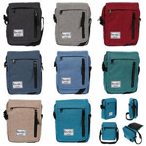 Kleine-Herren-Damen-Umhaengetasche-Tasche-Crossover-Bag-Nylon-Reise-Rot-Schwarz
