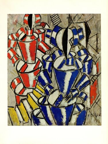 """1976 Vintage FERNAND LEGER /""""THE STAIRCASE/"""" FABULOUS COLOR offset Art Lithograph"""