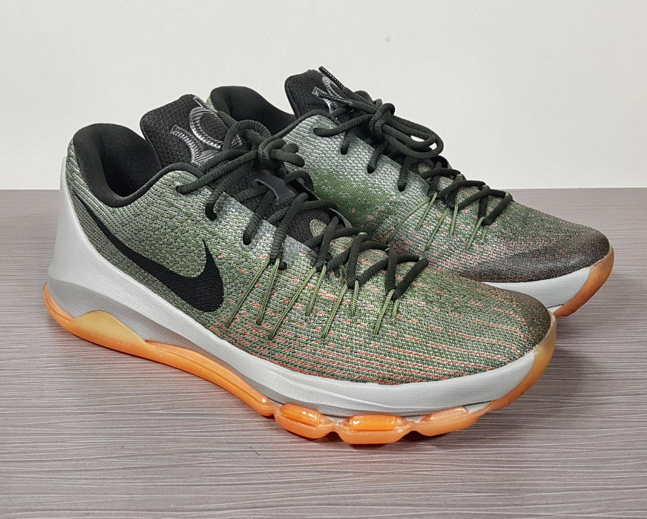 Nike KD 8 Kevin Durant Lunar Grey/Sequoia-Alligator-Bright Citrus Mens Comfortable