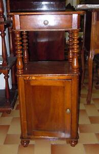 800\' COMODINO INGLESE IN NOCE-COLONNE-RESTAURATO- | eBay