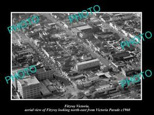 OLD-LARGE-HISTORIC-PHOTO-OF-FITZROY-VICTORIA-AERIAL-VIEW-OF-VICTORIA-Pde-c1960