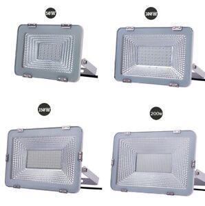 FARO-LED-SLIM-50W-100W-150-200W-WATT-IP66-SMD-MULTICHIP-PROIETTORE-BIANCO-FREDDO