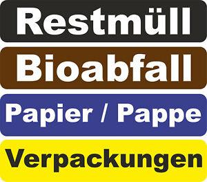 4er-Set-oder-einzeln-Abfalltrennungs-Aufkleber-Muelltrennung-Muelltonne-Recycling
