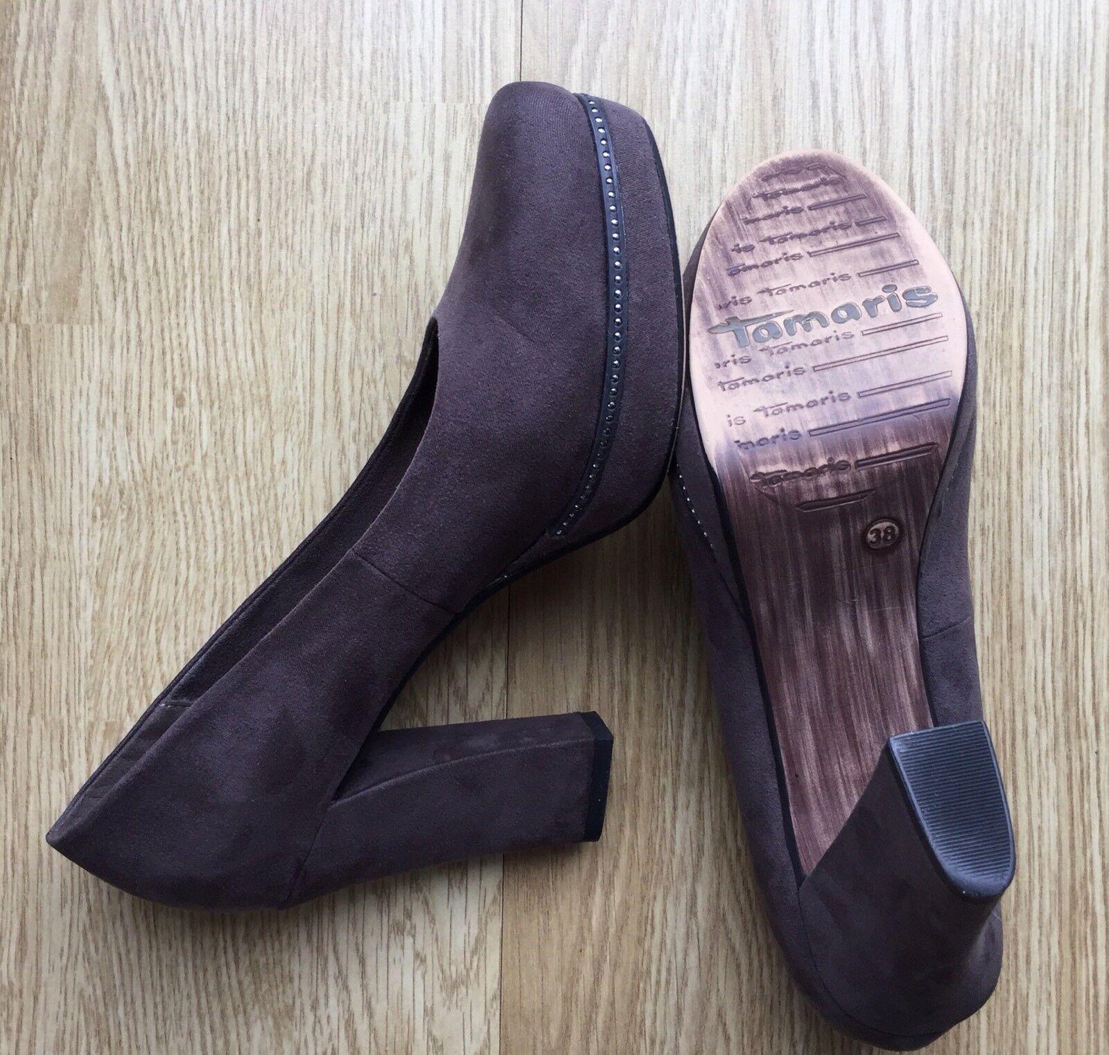 Tamaris Gr. Damen Pumps Schuhe - grau anthrazit - Gr. Tamaris 38 - WIE NEU ddbb1c