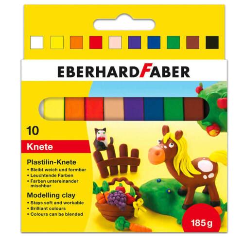 2x 10 Stück = 20 Eberhard Faber Knete Plastilin-Knete leuchtende weiche Farben