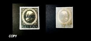 GERMANY-1920-SARRE-YVERT-20M-COPY